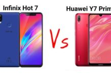 Infinix Hot 6 VS Huawei Y7 Prime